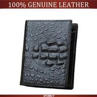 Designer men genuine leather wallets head cowhide crocodile card holder wallet purse men wallet
