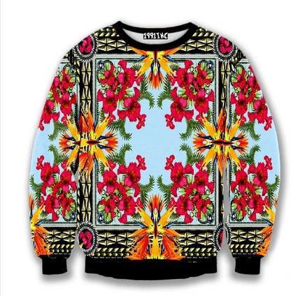 Unique Ben Rose Bird of Paradise Palace catwalk models Printed Pullovers Women/Men print 3D Hoodies Sweatshirts Tops(China (Mainland))