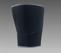 Elastic Sports Leg Support Brace Wrap Protector Thigh Pads Sleeve Cap Patella Guard Volleyball Knee - Black - 1PCS