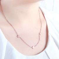 18K Rose Gold Plated Titanium Steel Star Pendant Necklace Fashion Brand Jewelry for Women Free Shipping (GN005)