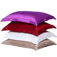 15022802 Free shipping  mulberry silk single side satin Silk Pillow case