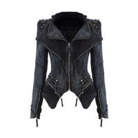 2015 Korean version of the new European Slim denim jacket short paragraph rivets stitching blouses
