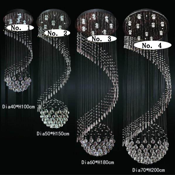 Grátis frete novo item moderno led crystal light lustre venda quente projeto espiral lustres de cristal de iluminação da escada(China (Mainland))