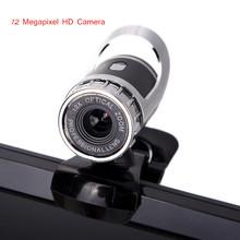 Nuovo usb 2.0 12 megapixel hd webcam camera web cam digital video camera web con microfono mic per pc computer portatile nero  (China (Mainland))