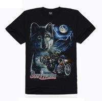 Individual Men T-shirt rock creative short sleeve T-shirt 3D T-shirt and wolf Knight TX-MT1
