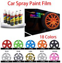 Spray Paint Car Film 400 ML roda de carro modificação borracha pintura pistola de cinema carro modificado Motocycle pintar 18 cores removível(China (Mainland))