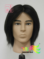Free Shipping High Quality Mannequin Maniqui 100% Human Natural Black Hair Training Male Mannequin Head With Straight Hair