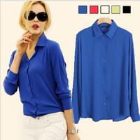 2015 Spring new fashion women blouses quality Chiffon shirt women tops Casual blouses women clothing