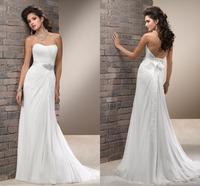 Popular Style Mermaid Chiffon Vestido De Festa Wedding Dresses Bride Cheap Robe De Mariage Bridal Gown Custom Made 2015 New