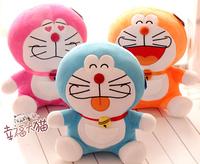 Gift for baby 1pc 30cm cartoon anime rainbow Doraemon almighty cat sweet plush little doll novelty creative stuffed toy