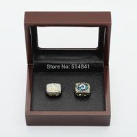 100%copper freeshipping TWO (2PCS)NFL 1979 2000 Louis rams SUPER BOWL CHAMPIONSHIP REPLICA FAN RINGS FULL SET