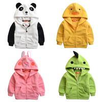 2015 spring new children's clothes, children's cartoon fleece jackets , hooded baby sweater