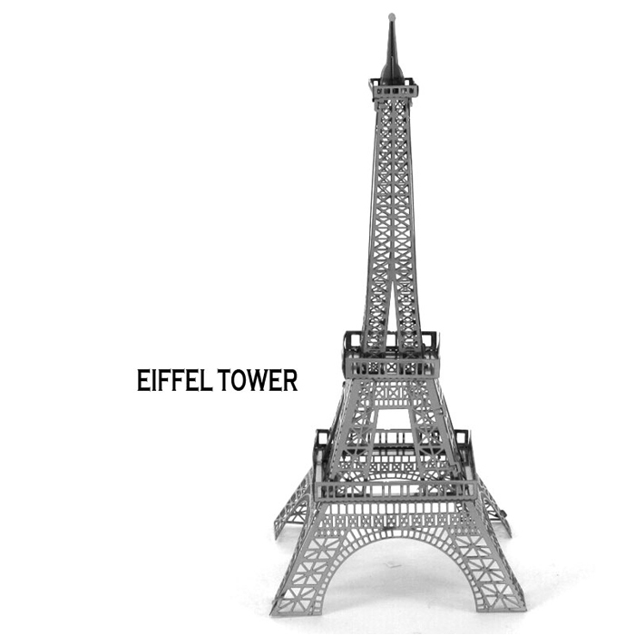 EIFFEL TOWER 3d puzzle ultra precision laser cutting metal model puzzle toys for children kids toys puzzles toys minecraft(China (Mainland))