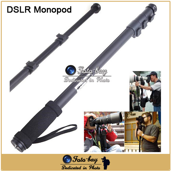 Professional Alloy DSLR Camera Monopod Extendable Lightweight Tripod Monopod with Bag For Canon Eos Nikon Sony Pentax Olympus(China (Mainland))