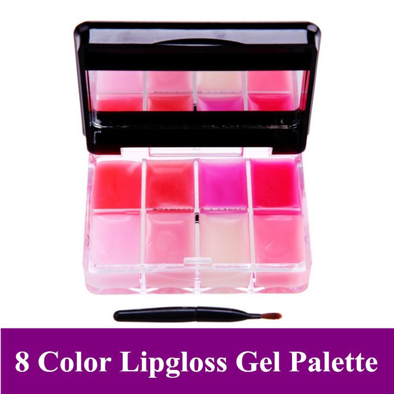 Genuine Baby Gaga 8 Color Water Lasting Moisturizing Lip Gloss Lip Jelly Platte B13 Free Shipping(China (Mainland))