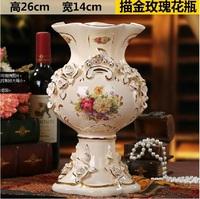 The colour creative decoration luxury european-style ceramics furnishing articles large sitting room ground vases, 10284
