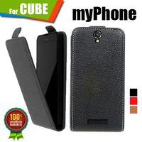New items 100% Special Case PU Leather Flip Up and Down Case + Free Gift For myPhone CUBE