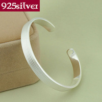 100% real pure 925 sterling silver jewelry bangles open Bangle/bracelet Thousands of fine silver Vintage free shipping