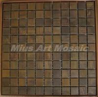 [Mius Art Mosaic] Copper tile in bronze brushed for kitchen backsplash wall tile E9T6008