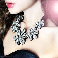 Korean version universal explosion flower decoration fake collar necklace luxury fashion fake collar blouse sweater chain
