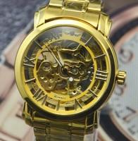 2015 hot Sale Rushed Freeship Glass Stainless Steel Men Analog Relojes Watches Men's Watch Charm Mechanical watch wristwatch man