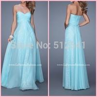 2015 Sexy Sweetheart Shining Sequined Pleated Floor Length Chiffon Prom Dresses Sexy Evening Dress vestido de festa longo
