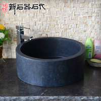 Natural granite biseautes wash basin s64 stone art basin wash basin fashion bathroom vanities