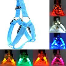 LED Nylon Pet Dog Cat Collar Led Glow Flash Light Dog Puppy Belt Harness Leash Tether Pet Safety Collar Rope(China (Mainland))