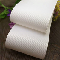 Free shipping 2-1/2'' width (63mm) White solid color QUALITY Polyester Grosgrain Ribbon DIY hairbows accessory gift package