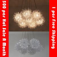 Simple Hot Sale 1/3/5/7 Heads Aluminum Silver Ball Led pendant light Bedroom Living room Restaurant pendant light