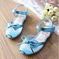 2015 summer new fashion Kids Children bow sandals Girls Princess shoes baby shoes transparent fish head Girls sandals