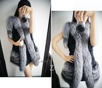 HOT !2014 Winter Women Fox Fur Vest Winter Warm Short Waistcoat Coat b7 CB030655