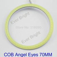 COB Angel Eyes 70mm!! 100Pieces(50pairs) Auto Halo Rings COB 70MM Angel Eye Car Headlight Motorcycle White Super Bright 12V Led