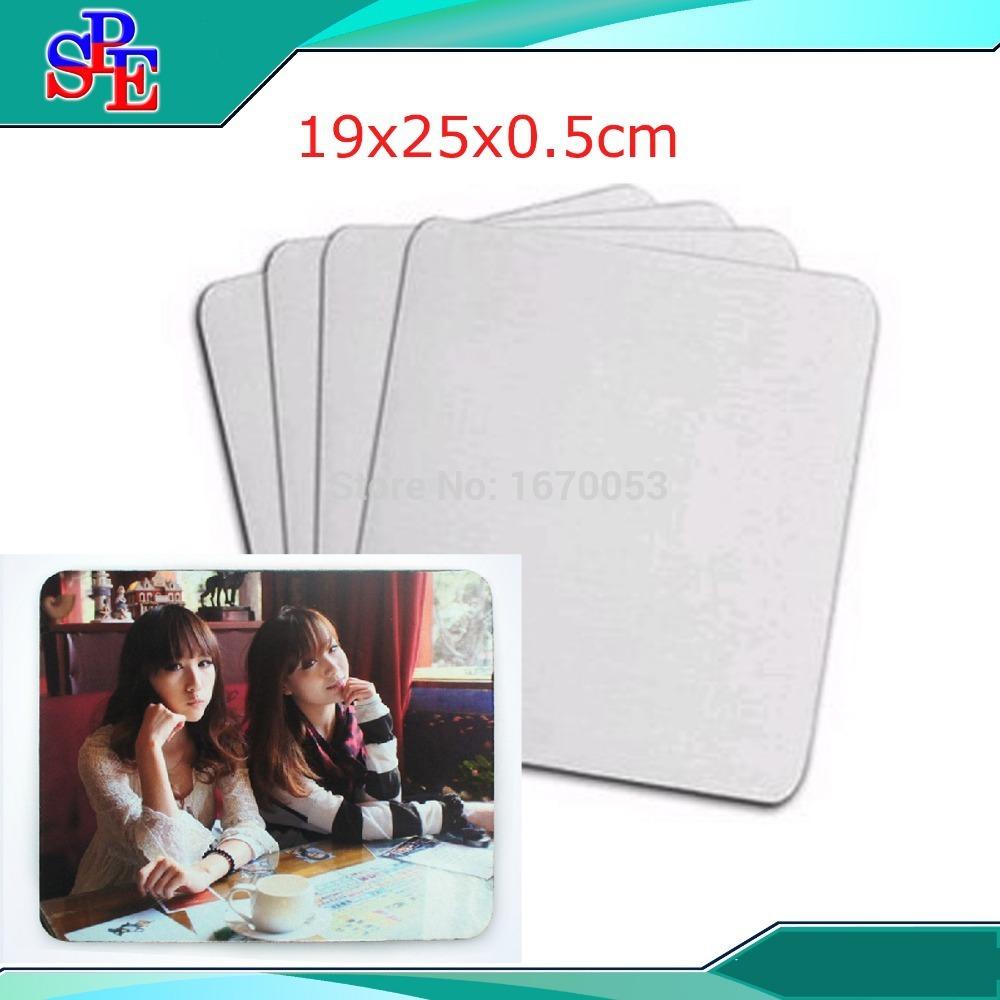 19cmx25cmx0.5cm DIY sublimation blank Mouse pad mats, Heat transfer print with your own design 100pcs/lot(China (Mainland))