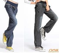 new woman pants, female elastic waist wide leg trousers, high quality lace ladies jeans, zipper loose pants