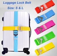 2015 New Travel luggage straps solid candy color classic practical straps packing tape suitcase belt  bag parts & accessories