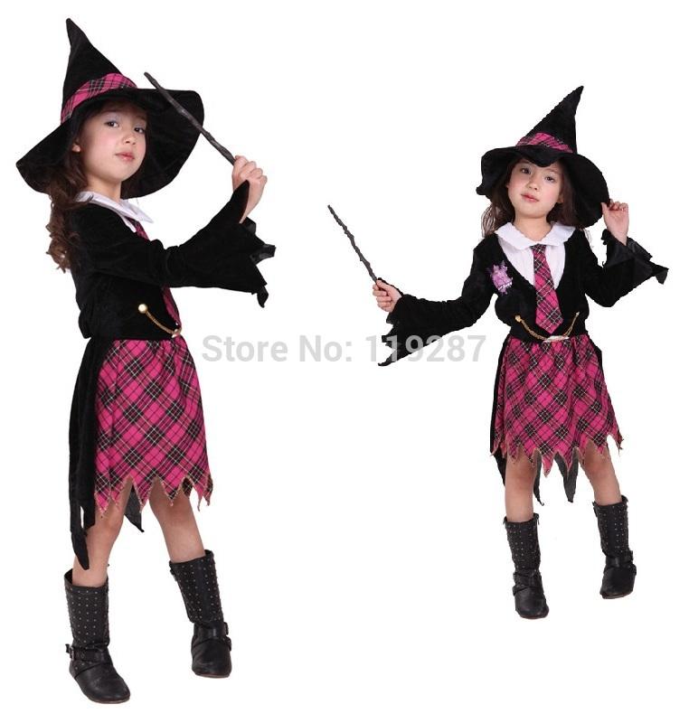 Crianças Fantasia cosplay pouco traje da bruxa Abra Academy terninhos menina festa de natal das bruxas roupa do carnaval vestido(China (Mainland))