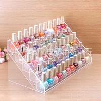 65 bottles of nail polish frame, contact lens medicine bottle display, goods display shelf