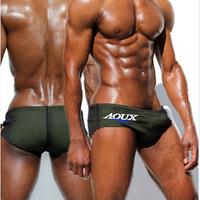 1pcs mens swimwear swimsuits men bikini swimming trunk men's sexy summer AQUX brand beach pants shorts wholesale fashion briefs