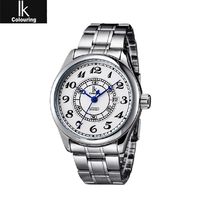 2015 New Arrival Reloj Couples Ik Apa Qi Watches Steel Section At The End Of Calendar Mens Watch Lady Table(China (Mainland))