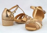 Children gold color Latin dance shoes women's Ballroom dancing shoes practise Salsa dance shoes,zapatos de baile
