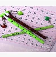 Fashionate 240pcs/lot Black Refill Bamboo Flute Gel Pen Heart Style Gel-Ink Pen Stationery Office/School Supplies #GP292