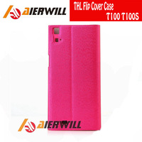 High Quality 100% Original THL Flip Cover Case for THL T100 T100S T100 THL Smart Phone In stock Pink Free Shipping
