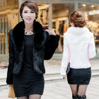 2015 Women Faux Fox Fur Rabbit Fur Outerwear