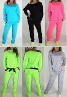 2015 spring Fashion brand new women Clothing Set Suit sweatshirt pants shampooers girls jogging tracksuit t shirt pants clothes