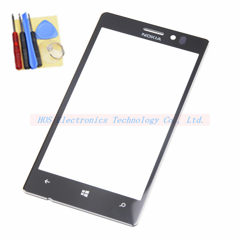 High quality New Outer LCD Front Screen Glass Lens Cover Replacement Parts for Nokia lumia 925 N925 lumia925 +tools(China (Mainland))