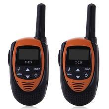 Brand FLOUREON 22 Channel Twin Portable Radio Walkie Talkies UHF462-467MHz 2-Way 3KM Interphone Handheld Radio Talkies
