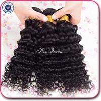 Kiss Queen hair products brazilian deep wave 3 pcs, brazilian curly virgin hair cheap unprocessed remy 100 brazilian virgin hair