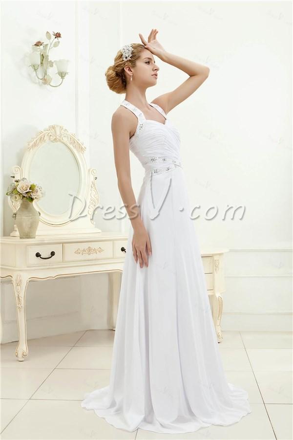 Charming beaded halter a line beach wedding cheap dresses 10820131 jpg