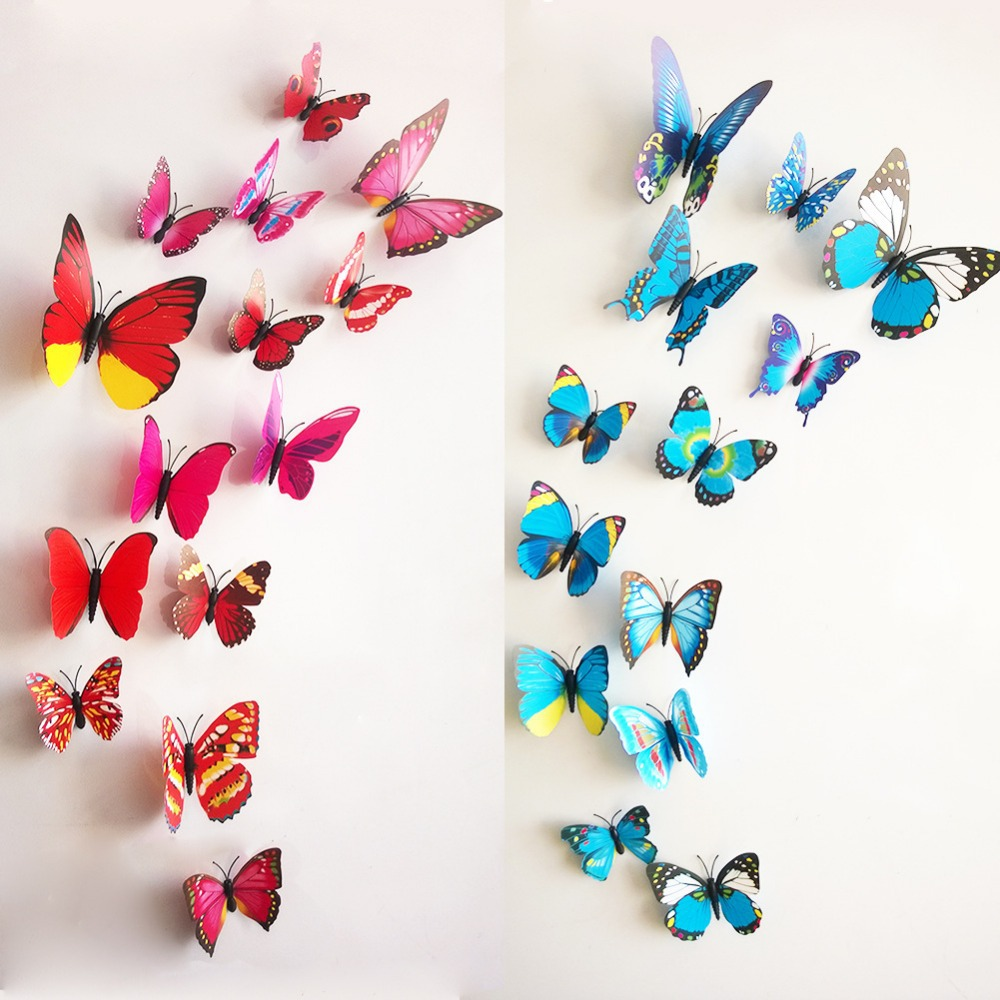 search on aliexpress com by image new 2015 12pcs 3d butterfly stickers art wall mural door decals home decor room bedroom wall sticker free shipping